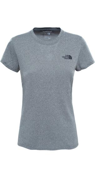 The North Face Reaxion Amp Crew Hardloopshirt korte mouwen Dames grijs